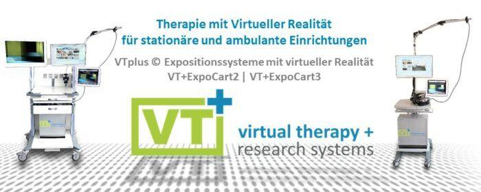 VTplus(C) Expositionssysteme mit virtueller Realität: Therapie mit Virtueller Realität für stationäre und ambulante Einrichtungen.